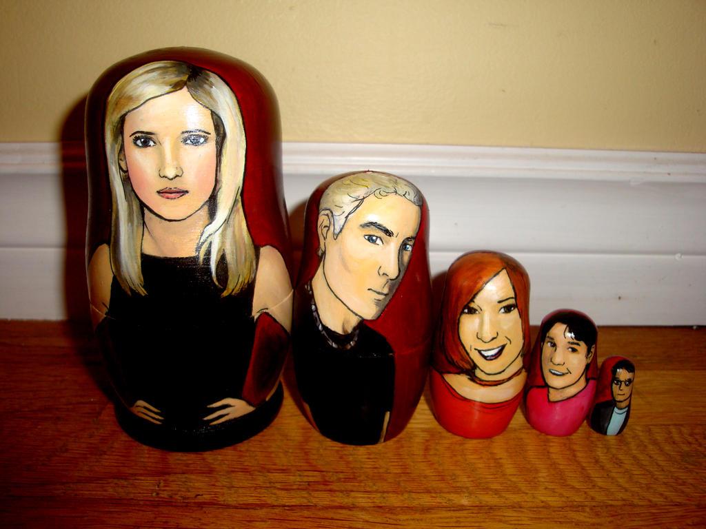 Buffy the Vampire Slayer Nesting Dolls by bachel60