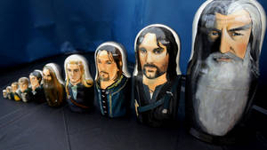 Lord of the Rings (The Fellowship) Nesting Dolls