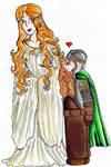 Galadriel and Gimli