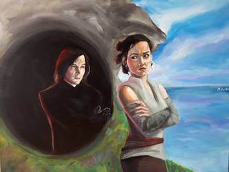Kylo Ren and Rey by bachel60