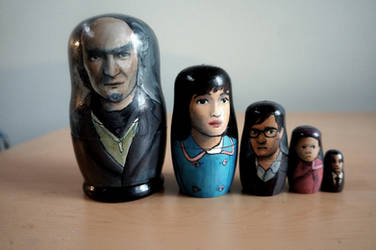 A Series of Unfortunate Events Nesting Dolls by bachel60