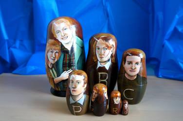 The Weasleys Nesting Dolls by bachel60