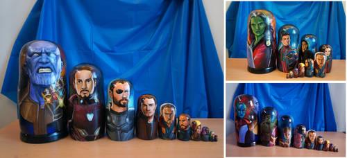 Avengers Infinity War Nesting Dolls by bachel60