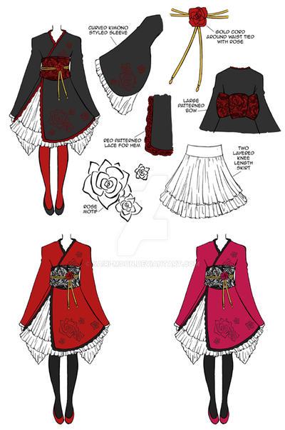 Wa Qi lolita design by Kairi-Moon