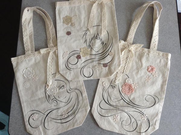 Original Tote Bags by Kairi-Moon
