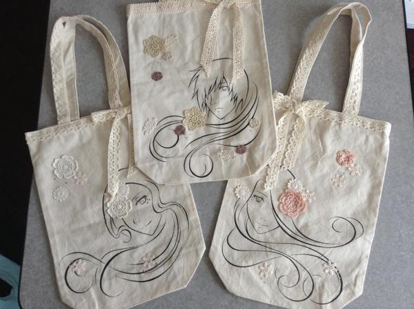 Original Tote Bags by Kairi-Moon