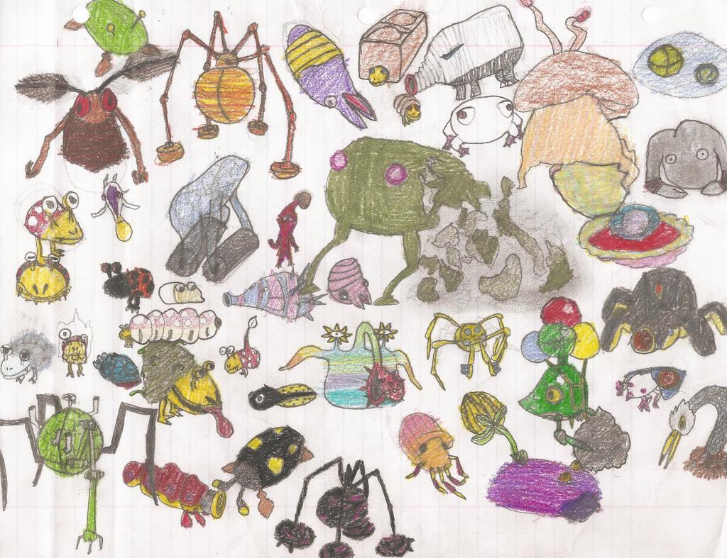 Pikmin Enemies By Luma Girl On Deviantart