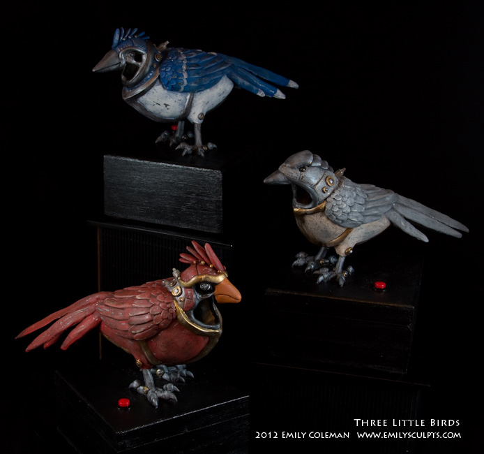 Three Little Birds by emilySculpts