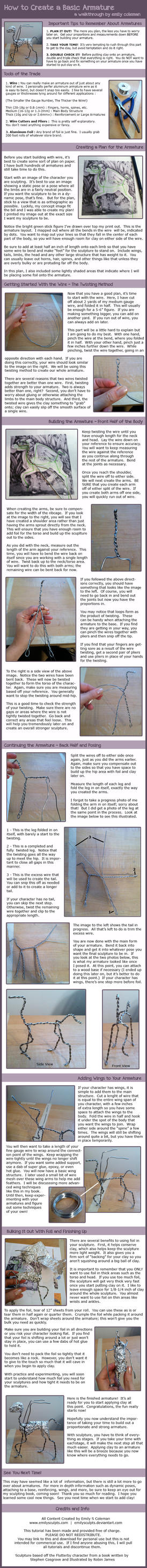 Tutorial : Building an Armature for a Sculpture by emilySculpts