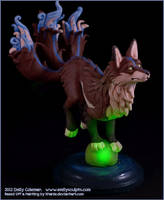 Commission : Ethereal Kitsune, Glow by emilySculpts