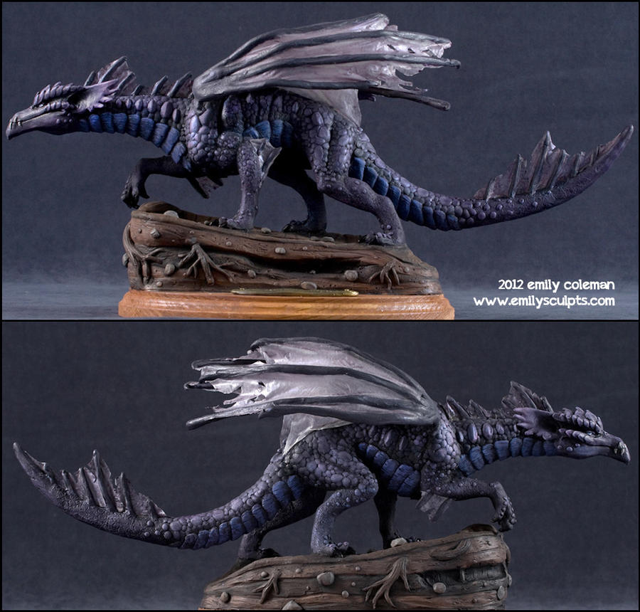 Commission : Shadow Dragon by emilySculpts