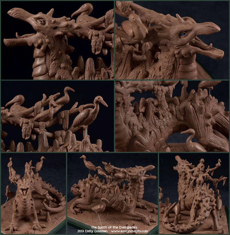 The Spirit of the Everglades, Details by emilySculpts