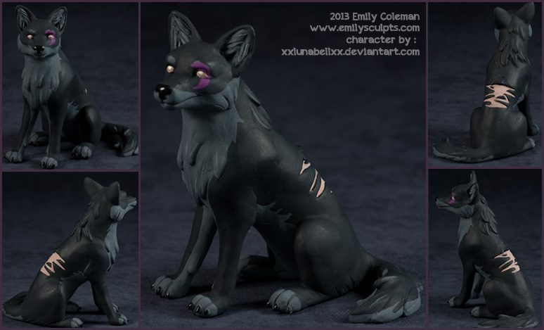 Commission : Luna Wolf by emilySculpts