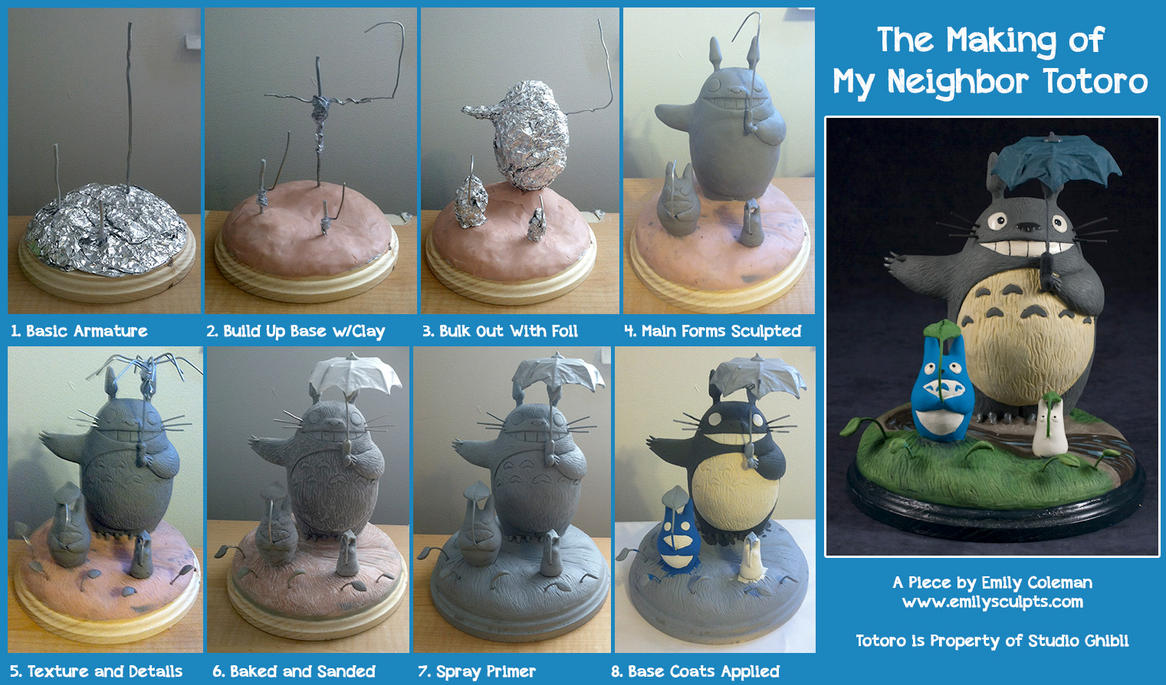 The Making of My Neighbor Totoro by emilySculpts on DeviantArt