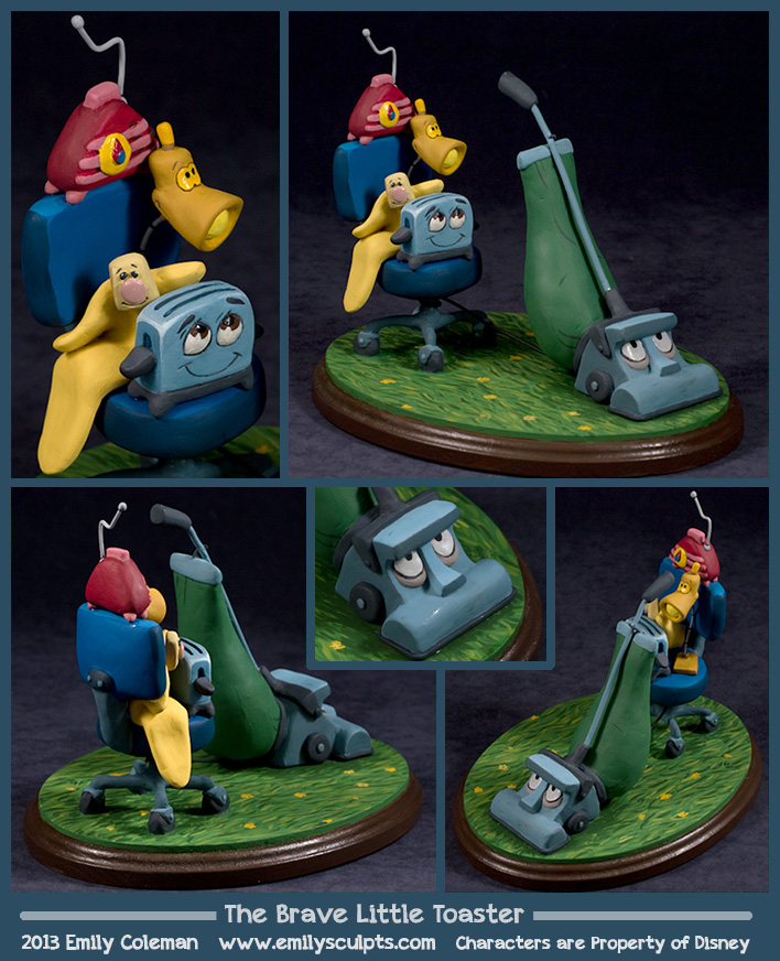 Commission : The Brave Little Toaster by emilySculpts