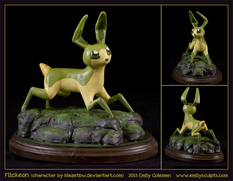 Commission : Flickeon by emilySculpts