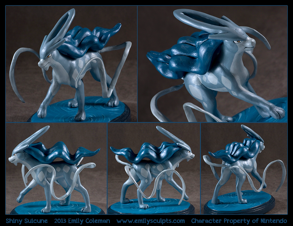 Commission : Shiny Suicune by emilySculpts