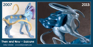 Then and Now : Suicune Sculpt