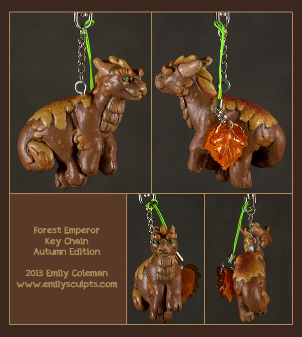 Autumn Forest Emperor Key Chain by emilySculpts