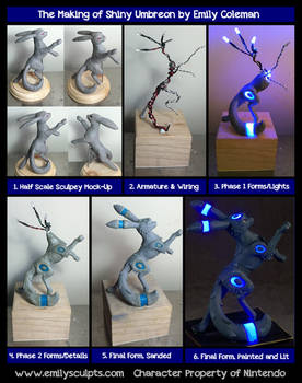 The Making of Shiny Umbreon by emilySculpts