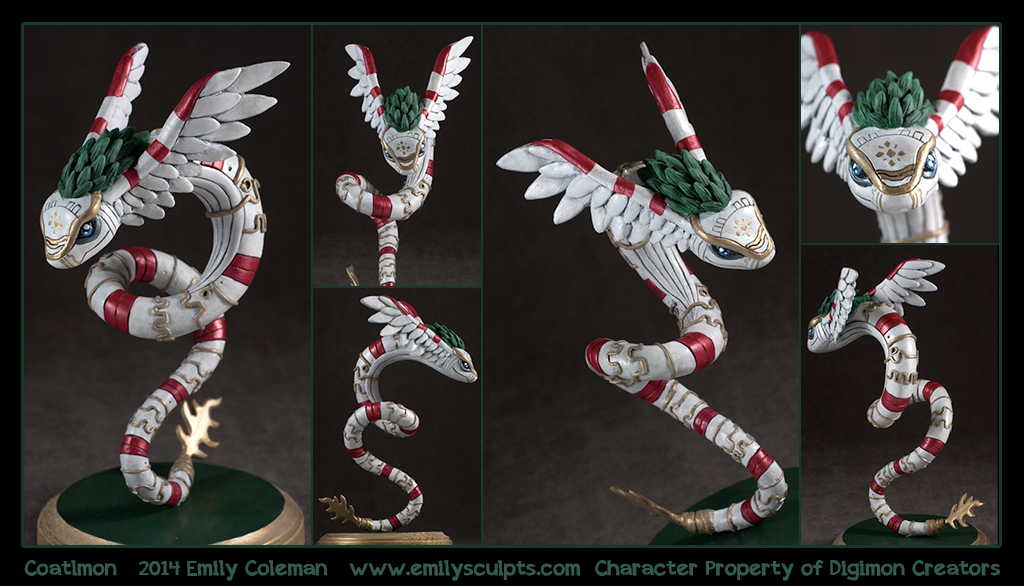 Commission : Coatlmon by emilySculpts