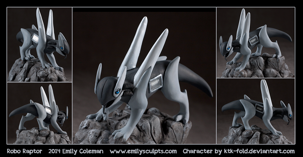 Commission : Robo Raptor by emilySculpts