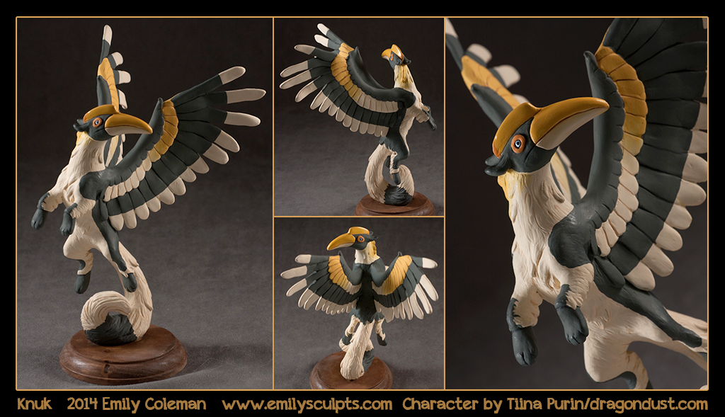 Knuk, The Indian Hornbill-Squirrel Gryphon by emilySculpts