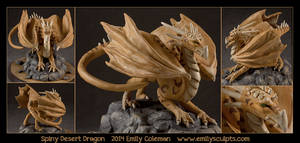 Spiny Desert Dragon by emilySculpts