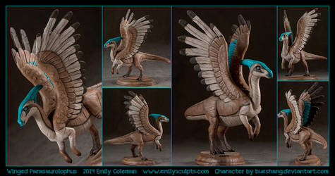 Commission : Winged Parasaurolophus