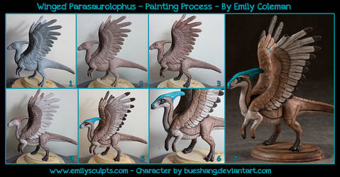Winged Parasaurolophus : Painting Process