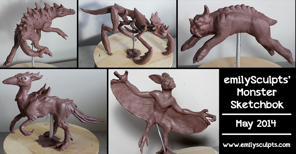 Clay Sketchbook, May 2014 by emilySculpts