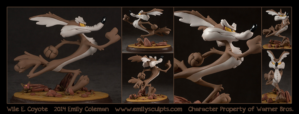 Commission : Wile E Coyote by emilySculpts