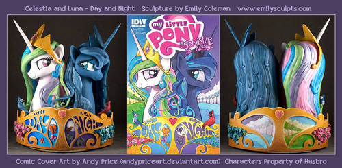 Commission : Celestia and Luna - Day and Night