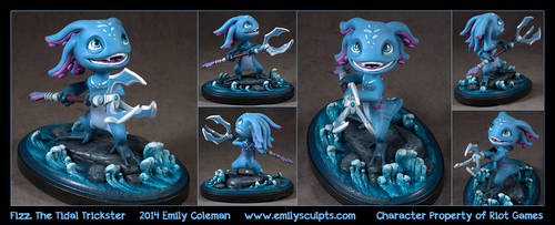 Commission : Fizz, the Tidal Trickster by emilySculpts