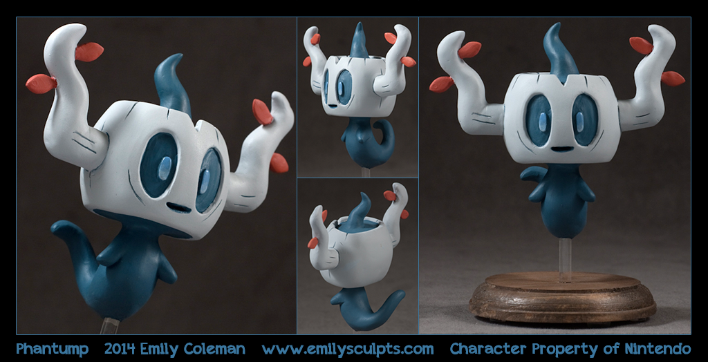 Commission : Shiny Phantump by emilySculpts