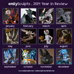 2014 Year in Review by emilySculpts