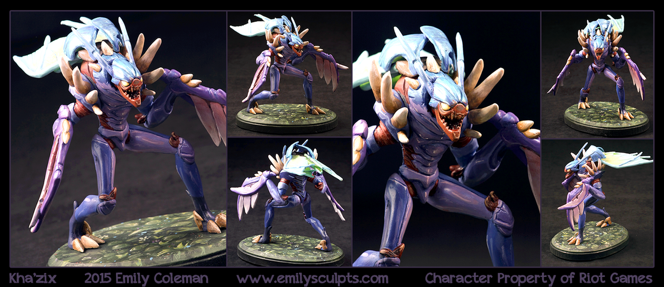 Commission : Kha'zix by emilySculpts