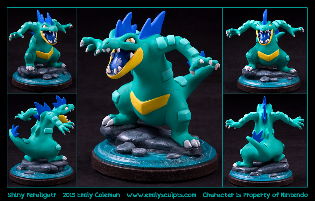 Commission : Shiny Feraligatr by emilySculpts