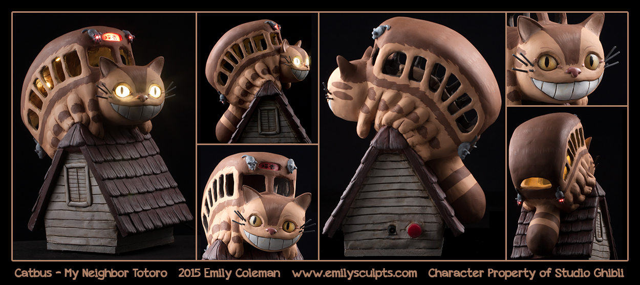 Commission : Catbus - My Neighbor Totoro by emilySculpts