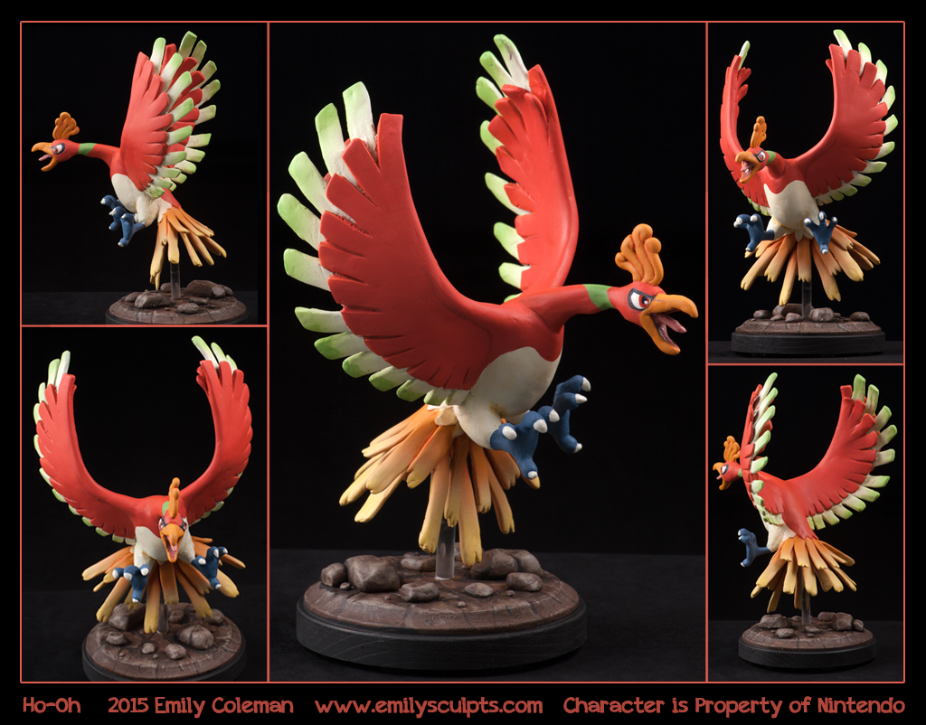 Commission : Ho-Oh by emilySculpts