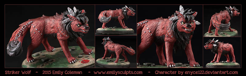 Commission : Striker Wolf by emilySculpts
