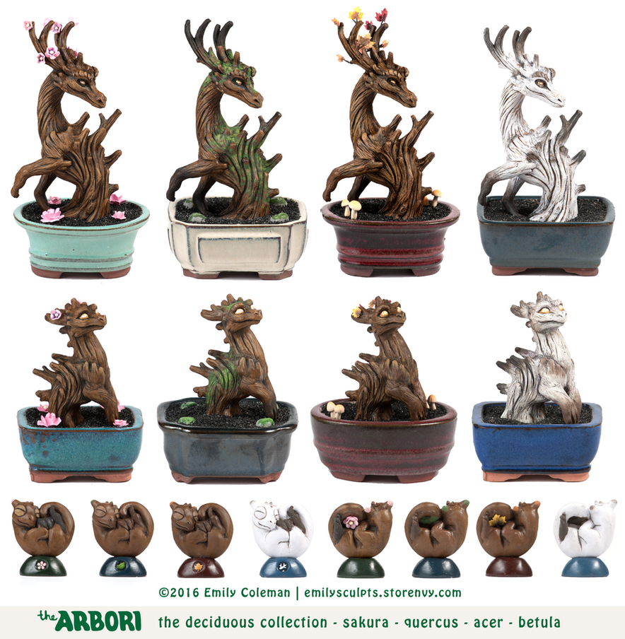 The Deciduous Collection by emilySculpts