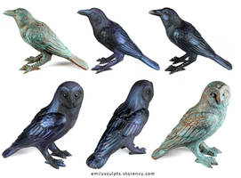 New Crow and Owl Familiars - Now Available