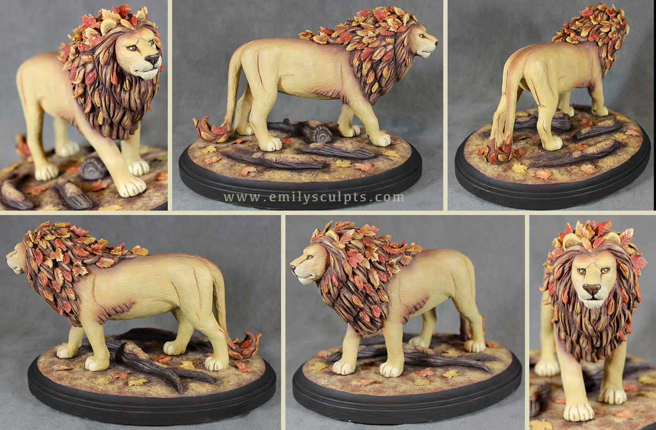 Autumn Lion by emilySculpts