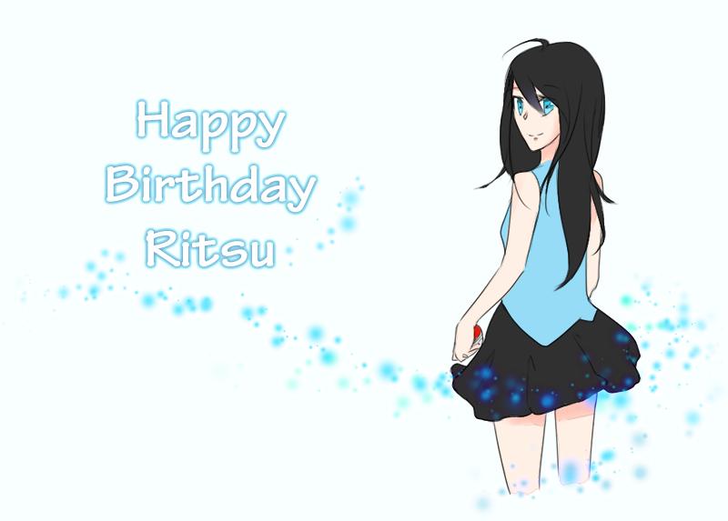 Happy birthday Ritsu! by Remikia