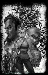 Black Mass Pizza Issue #1 cover BnW
