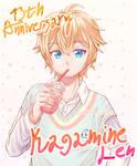 Kagamine Len 13th Anniversary by JeffHarrison02