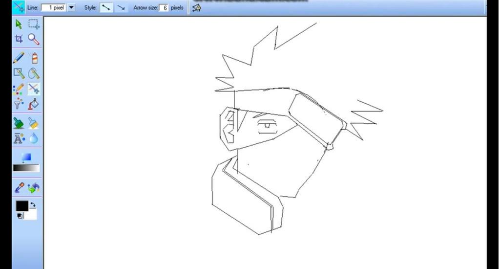 Kakashi Drawing Easy How to Draw Kakashi Using