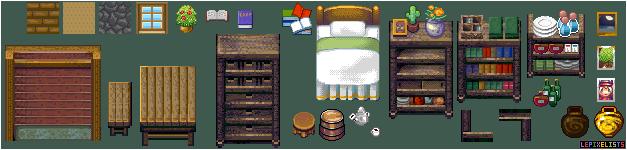 Pixel art 32 x 32 tiles. by LePixelists