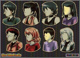 Faceless Pixel Portraits - 8 Characters